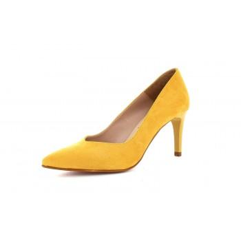 Zapato Tacón Clásico Ante Trigal