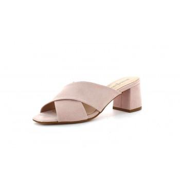 Zapato Mule Ante Maquillaje