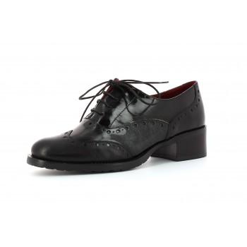 Zapato blucher mujer Amazona Negro