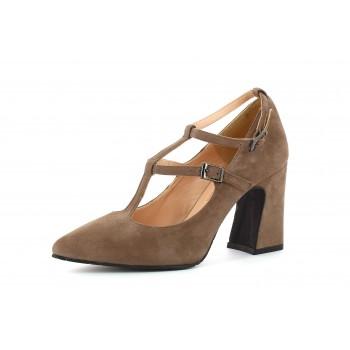 Zapato Tacón  Suede Lodo