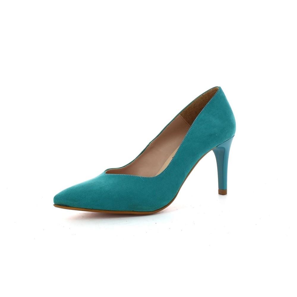 Zapato Tacón Clásico Ante Aqua