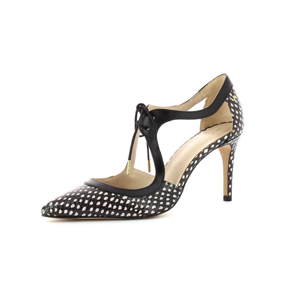 Zapato tacón Navia Black White