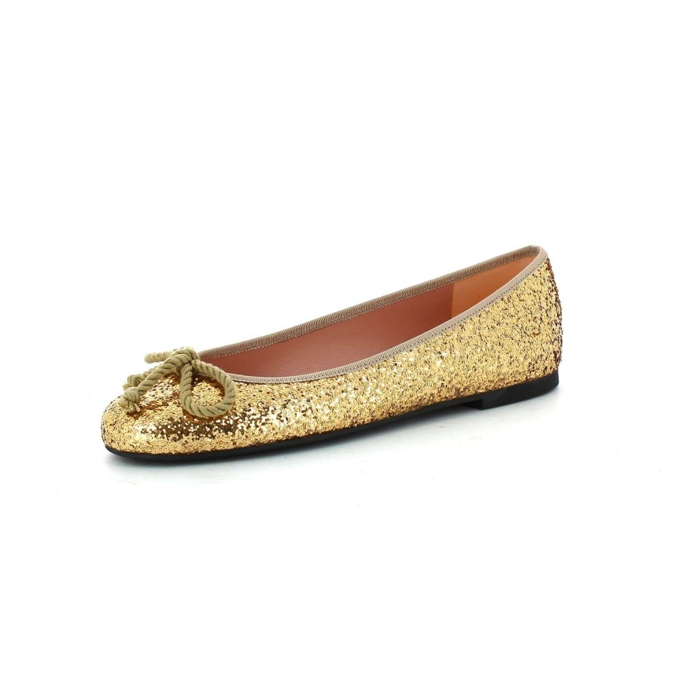 Pretty Ballerinas Rosario Gold Glitter