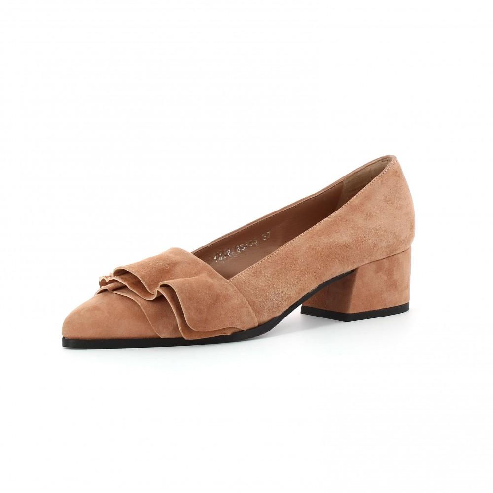 Zapatos de tacón volantes