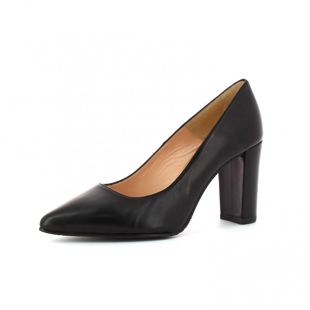 Zapato Tacón Nappa Black