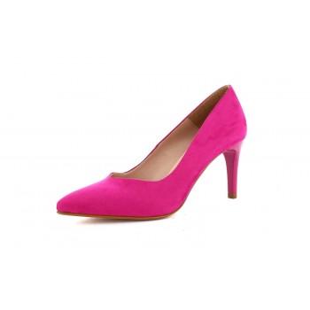 Zapato Tacón Clásico Ante Fucsia