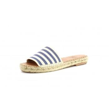 Sandalias Planas Blue Stripes