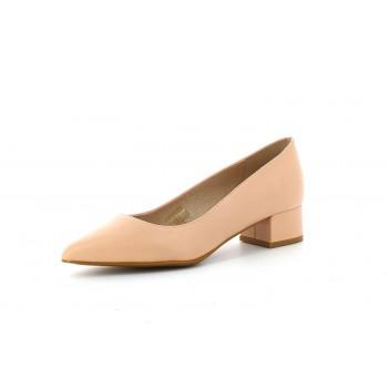 Zapato Salón Tacón Bajo Rosa Salmón