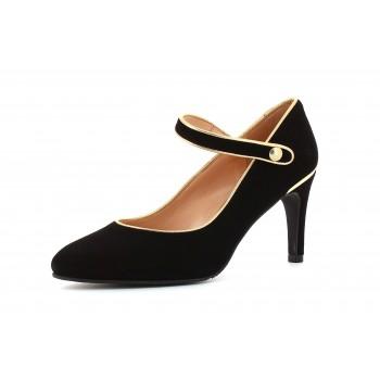 Zapato Tacón Suede Black Eclat Oxido