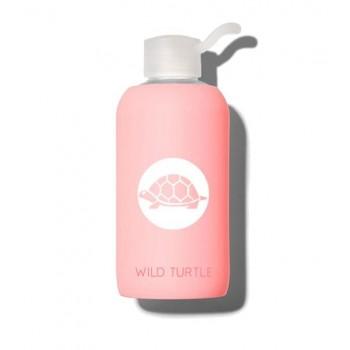 Wild Turtle Botella Cristal Coral Rosa
