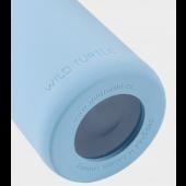 Wild Turtle Botella Cristal Smurf Azul